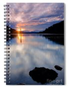 Sunset On Wolf Lodge Bay Spiral Notebook