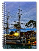 Sunset Over A Tall Ship Spiral Notebook