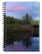 Sunset Over Amoonoosuc River Spiral Notebook