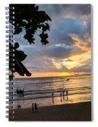 Sunset Over Ao Nang Beach Thailand Spiral Notebook