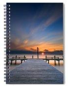 Sunset Over Barnegat Bay Spiral Notebook