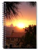 Sunset Over Bcharre, Lebanon Spiral Notebook
