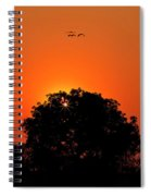 Sunset Over Botswana Spiral Notebook