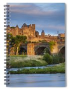 Sunset Over Carcassonne Spiral Notebook