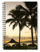 Sunset Over Chinamans Hat Spiral Notebook