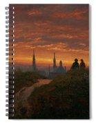 Sunset Over Dresden Spiral Notebook