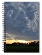 Sunset Over Farm And Trees - Distant View Spiral Notebook