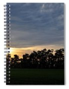Sunset Over Farm And Trees Spiral Notebook