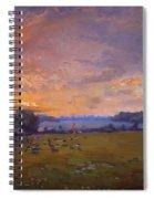Sunset Over Gratwick Park Spiral Notebook