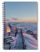 sunset over Igloos - Greenland Spiral Notebook