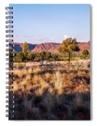 Sun Setting Over Kings Canyon - Northern Territory, Australia Spiral Notebook