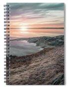 Sunset Over Lake Vanern, Sweden Spiral Notebook
