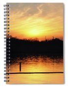 Sunset Over Lake Spiral Notebook