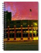 Sunset Over Lambeau Field Spiral Notebook