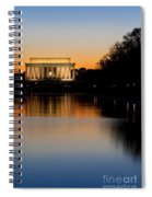 Sunset Over Lincoln Memorial Spiral Notebook
