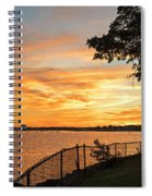 Sunset Over Lynch Park Beverly Ma Water Tower Spiral Notebook