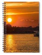 Sunset Over Marina Spiral Notebook