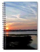 Sunset Over Murrells Inlet II Spiral Notebook