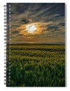 Sunset Over North Pas De Calais In France Spiral Notebook