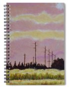 Sunset Over Powerlines Spiral Notebook
