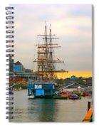 Sunset Over River  Liffey 2 Spiral Notebook