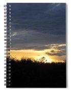 Sunset Over Rural Field Spiral Notebook