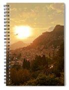 Sunset Over Sicily Spiral Notebook