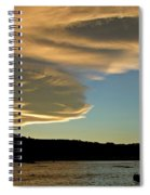 Sunset Over South Island Of New Zealand Spiral Notebook