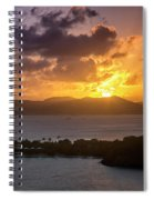 Sunset Over St. Thomas Spiral Notebook