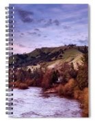 Sunset Over The American River Spiral Notebook