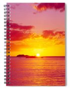 Sunset Over The, Atlantic Ocean, Cat Spiral Notebook