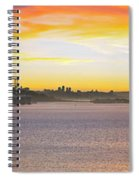 Sunset Over The Bay Spiral Notebook