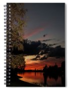 Sunset Over The Caloosahatchee Spiral Notebook