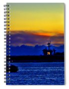 Sunset Over The Carl Vinson Spiral Notebook