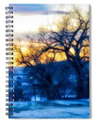 Sunset Over The City Spiral Notebook