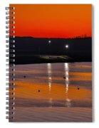 Sunset Over The Denison Dam Spiral Notebook