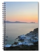 Sunset Over The Fishing Cove Of Klima On The Cycladic Island Of Milos Spiral Notebook