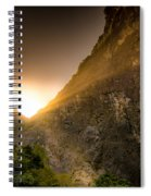 Sunset Over The Gorge Spiral Notebook