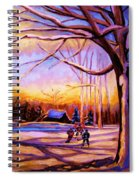 Sunset Over The Hockey Game Spiral Notebook