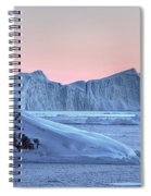 sunset over the Icefjord - Greenland Spiral Notebook
