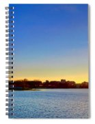 Sunset Over The Jefferson Memorial  Spiral Notebook