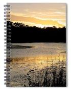Sunset Over The Marsh Spiral Notebook