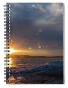 Sunset Over The Mississippi In Wisconsin Spiral Notebook