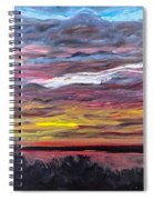 Sunset Over The Mississippi Spiral Notebook
