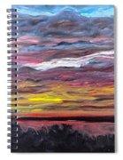 Sunset Over The Mississippi Spiral Notebook
