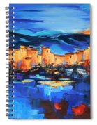 Sunset Over The Village 2 By Elise Palmigiani Spiral Notebook