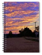 Sunset Over The Wheat Fields Spiral Notebook
