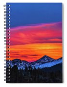 Sunset Over Torreys And Grays Peaks Spiral Notebook