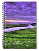 Sunset Over Turners Creek John 3 17 Spiral Notebook
