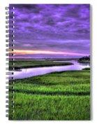 Sunset Over Turners Creek Savannah Tybee Island Ga Spiral Notebook